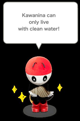みんなの大好物のカワニナはきれいな水でしか生きることが出来ないんだよ!