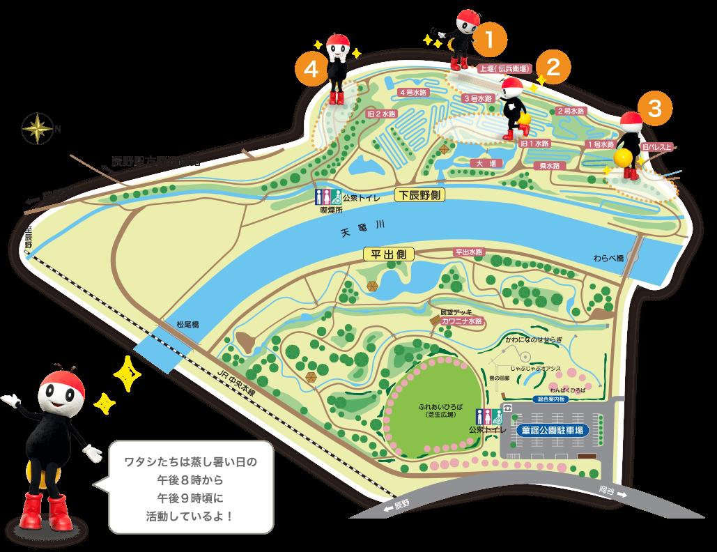 辰野ほたる童謡公園 オススメ鑑賞スポット